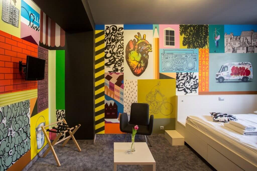 Hotelová izba Urban Flashbacks v Hoteli Roca